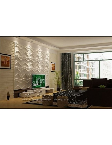 """3D PANEL WALL FOR DECORATION OF WALLS AND CEILINGS MOD. """"STEFAN,"""" 50X50 CF.1MQ"""