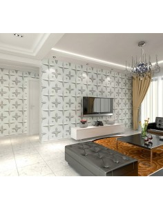 3D PANEL WALL FOR DECORATION OF WALLS AND CEILINGS MOD. PANEL WALL FOR DECORATION OF WALLS AND CEILINGS MOD   STAR  50X50