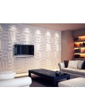 "3D PANEL WALL FOR DECORATION PA0ETI AND CEILINGS MOD. ""BLOCK"" 50X50 CF.1 SQM"