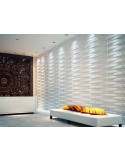 """3D PANEL WALL FOR DECORATION PA0ETI AND CEILINGS MOD. """"BLOCK"""" 50X50 CF.1 SQM"""