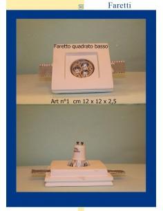 LED-EINBAULEUCHTE IN GIPS QUADRAT UNTEN MIS. cm.12X12x2.5