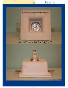 FARETTO QUADRATO IN GESSO ART.2 cm.14.5x14.5x7