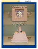 SPOTLIGHT PLASTER WITH GLASS ART.3 cm.12x12x6