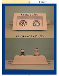 LED-EINBAULEUCHTE IN GIPS IN 2 LICHTER ART.4 cm.21 x 12 x 5.3