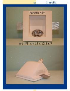 FARETTO IN GESSO 45° ART.5 cm.12 x 12,5 x 7