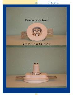 FARETTO TONDO BASSO IN GESSO ART.6 diam.10 H.2.5