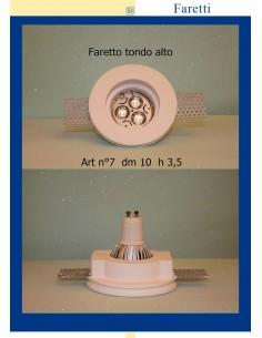 FARETTO IN GESSO TONDO ALTO ART.7 diam.10 H.3.5