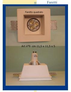 DOWNLIGHT PLASTER SQUARE ART.9 MIS. cm.11,5X11,5X 5