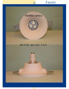 SPOTLIGHT PLASTER CONICAL ART.10 Diam.13,2 h.5,3