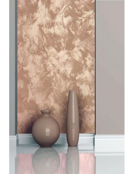 CeboStone Metal dall'aspetto sabbiato metallico, con delicati chiaroscuri e affascinanti riflessi dorati.