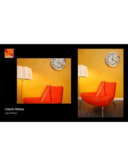 CeboSi Reflections Acrylic interior water-based, washable, semicoprente, with metallic reflections.