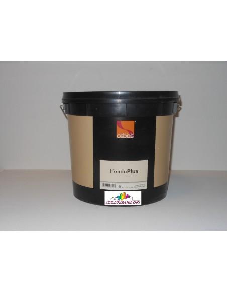 FONDOPLUS Fondo acrilico all'acqua per interni, di elevata copertura e punto di bianco, di aspetto liscio.