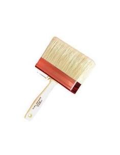 Pure bristle blonde.Ring copper. Lath and plastic handle.