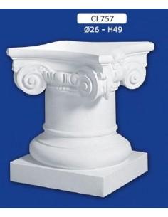 COLUMN MOUNTED PLASTER STANDARD H49