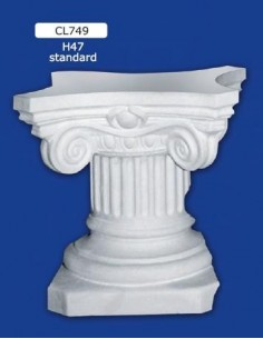 COLUMN MOUNTED PLASTER STANDARD H47