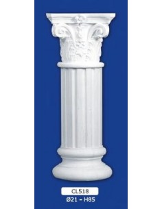 COLUMN MOUNTED PLASTER D21XH85
