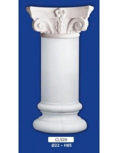 COLUMN MOUNTED PLASTER D22XH85