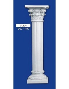 COLUMN MOUNTED PLASTER D12XH90