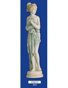 STATUE WOMAN PLASTER FRIEZE H 74