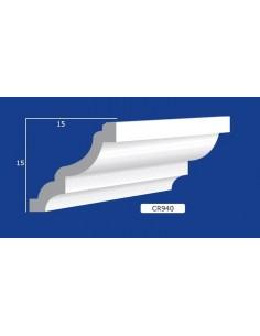 CORNICE IN GESSO CERAMICO DA PARETE Prezzo Riferito A 1,5 MTL N.B. le cornici sono confezionate da cm.75 ART.940