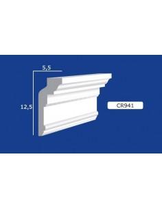 CORNICE IN GESSO CERAMICO DA PARETE Prezzo Riferito A 1,5 MTL N.B. le cornici sono confezionate da cm.75 ART.941