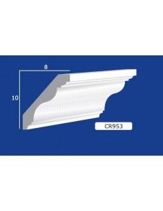 CORNICE IN GESSO CERAMICO DA PARETE Prezzo Riferito A 1,5 MTL N.B. le cornici sono confezionate da cm.75 ART.953