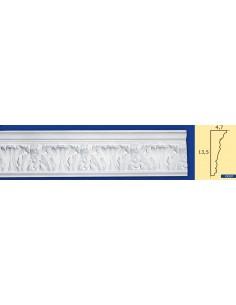 CORNICE IN GESSO CERAMICO DA PARETE Prezzo Riferito A 1,5 MTL N.B. le cornici sono confezionate da cm.75 ART.207