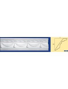 CORNICE IN GESSO CERAMICO DA PARETE Prezzo Riferito A 1,5 MTL N.B. le cornici sono confezionate da cm.75 ART.208