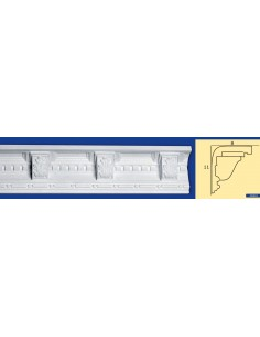 CORNICE IN GESSO CERAMICO DA PARETE Prezzo Riferito A 1,5 MTL N.B. le cornici sono confezionate da cm.75 ART.210
