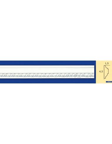 CORNICE IN GESSO CERAMICO DA PARETE Prezzo Riferito A 1,5 MTL N.B. le cornici sono confezionate da cm.75 ART.224