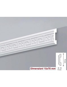 Frame made of polystyrene foam, extruded polystyrene 15x70 mt.2 LD15G