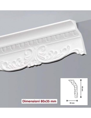 Cornice da50 in polistirolo e polistirene estruso 45x45 for Cornici decorative polistirolo
