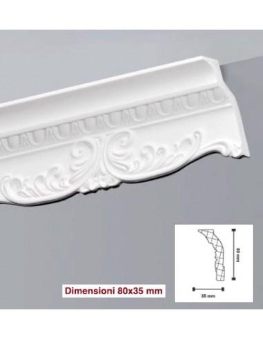 Cornice da50 in polistirolo e polistirene estruso 45x45 for Cornici decorative polistirolo