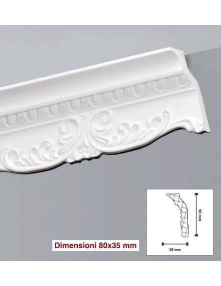Cornice in polistirolo polistirene estruso 80X35 mt.2 LD80G Confezione 10 mt. ( 5 Aste)