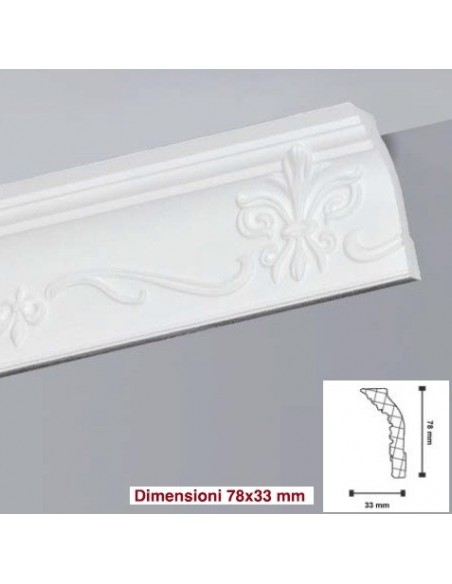Frame made of polystyrene foam, extruded polystyrene 78X33 mt.2 LD81G