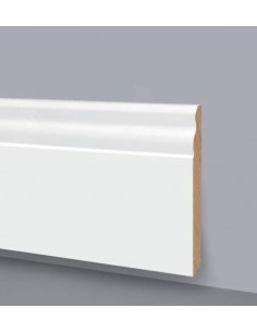 SKIRTING IN WOOD LACQUERED in WHITE No. 6007