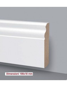 SKIRTING board MDF LACQUERED WOOD PRICE AUCTION Mt.2,4 DUCALE 100X18
