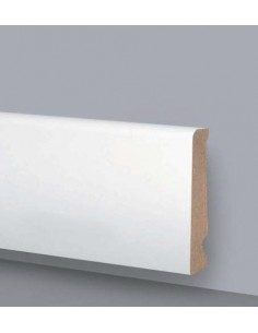 SKIRTING board MDF LACQUERED WOOD PRICE AUCTION Mt.2,4 DU80X16