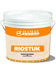 Stucco in pasta kg.20, buon potere adesivo e riempitivo. Speciale per rasature murali di finitura, di spessore moderato.
