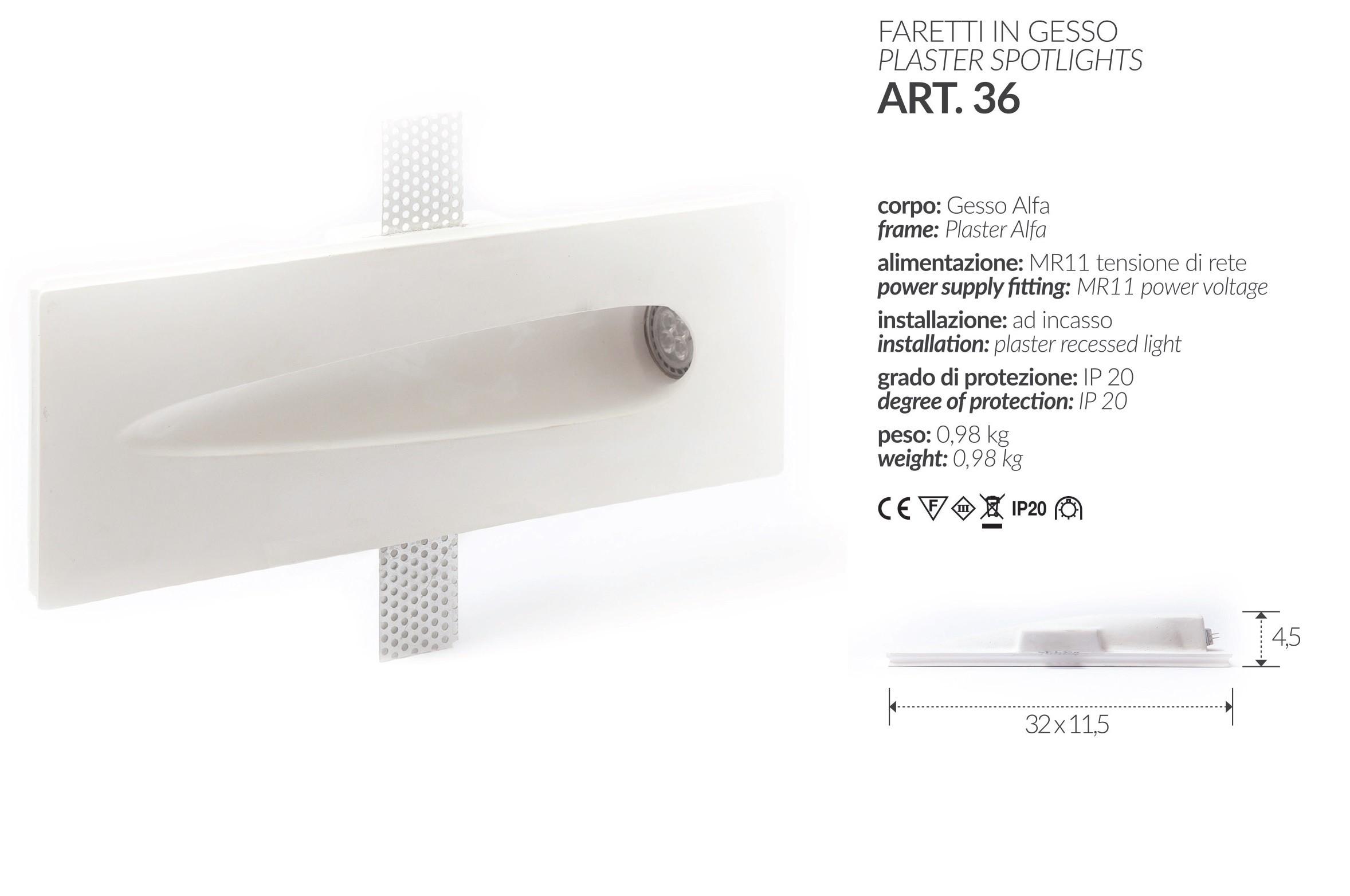 Faretti Incasso Di Gesso faretto in gesso quadrato basso art.1 mis. cm.12x12x2.5