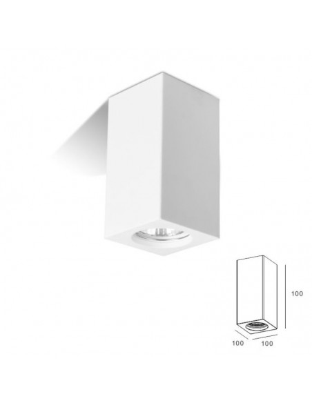DOWNLIGHT PLASTER SQUARE LOW ART.1 MIS. cm.12X12x2.5