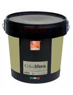 CeboSfera Rivestimento decorativo all'acqua per interni a base di resina acrilica, sfere di vetro e pigmenti metallici