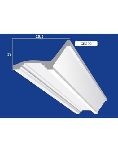 CORNICE IN GESSO CERAMICO DA PARETE 202 Prezzo Riferito A 1,5 MTL N.B. le cornici sono confezionate da cm.75