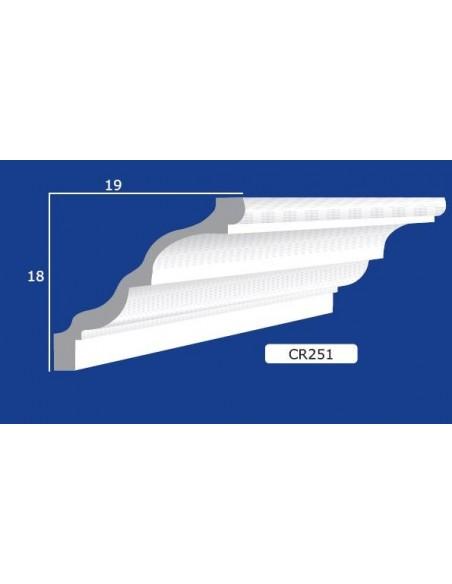 CORNICE IN GESSO CERAMICO DA PARETE 251 Prezzo Riferito A 1,5 MTL N.B. le cornici sono confezionate da cm.75