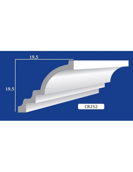CORNICE IN GESSO CERAMICO DA PARETE 252 Prezzo Riferito A 1,5 MTL N.B. le cornici sono confezionate da cm.75