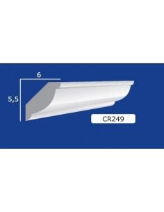 CORNICE IN GESSO CERAMICO DA PARETE 249 Prezzo Riferito A 1,5 MTL N.B. le cornici sono confezionate da cm.75