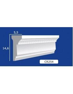 CORNICE IN GESSO CERAMICO DA PARETE 254 Prezzo Riferito A 1,5 MTL N.B. le cornici sono confezionate da cm.75