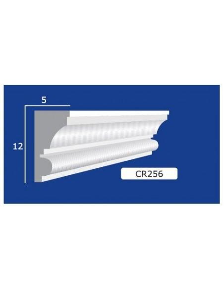 CORNICE IN GESSO CERAMICO DA PARETE 256 Prezzo Riferito A 1,5 MTL N.B. le cornici sono confezionate da cm.75