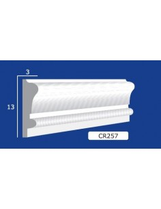 FRAME PLASTER CERAMIC WALL INTERIOR PAINTABLE 257 Rod from mt.1,5
