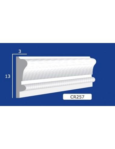 CORNICE IN GESSO CERAMICO DA PARETE 257 Prezzo Riferito A 1,5 MTL N.B. le cornici sono confezionate da cm.75